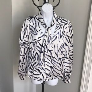 Kendall + Kylie tie blouse